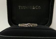 Tiffany Diamond Band/Ring 950 Plat VS1/F 0.33 Bridal Wedding Anniversary Jewelry