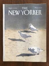 1986 September 1 The New Yorker Magazine Pigeon Savage