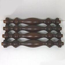 4 x Buche Säule - nußbaum/teak farbig gebeizt ca. 23 x 2,5 cm (1)