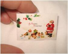 AUSVERKAUF *Süßes Miniaturen Weihnacht´s - Schild / Bild / Poster / Deko  1:12