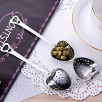 NEW Loose Heart Tea Infuser Leaf Strainer Filter Diffuser Herbal Spice Stainless