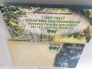 malaysia presentation pack 2001 100 TAHUN JABATAN HUTAN tree offer below price