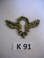 ANTIQUE CAST BRASS SMALL KEYHOLE COVER