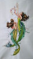 "New Completed finished cross stitch needlepoint""MERMAID""home decor gifts 58"