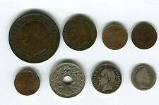 8 X FRENCH COINS  1835 TO 1920