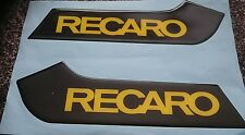 FOCUS MK2 ST PRE FACELIFT ST3 SEAT BASE TRIM GEL BADGE INSERTS BLACK/YELLOW