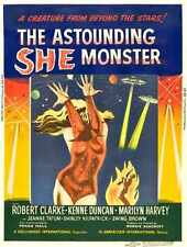 Astounding She Monster Poster 02 Metal Sign A4 12x8 Aluminium
