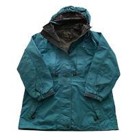 Vintage Eddie Bauer Seafoam Green Gore-Tex Anorak Parka Jacket Zip Women's Small