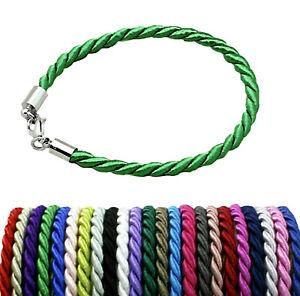 Armband Freundschaftsarmband Kordel Armband Karabiner 4 mm   3 Längen  Farbwahl