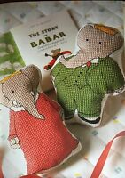 CROSS STITCH CHART Babar Soft Toys Bath Wrap Height Chart Childrens Elephant