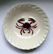 Blue Sky Pottery, Hand Crafted Porcelain Crab Serving Dish 00029