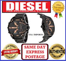DIESEL DZ7312 MR DADDY 2.0 Gold Multiple Time Zone Chronograph Mens Wrist Watch