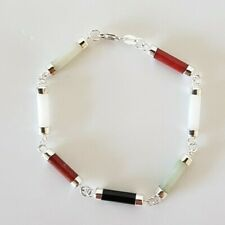 Lovely Multi Color Stones Small BRACELET Sterling Silver 925 gr. 6.1