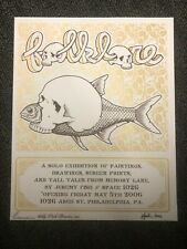 Jeremy Fish limited edition Silkscreen Show Poster Space 1026 in Philadelphia