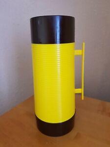 Vintage Aladdin Super Food Flask 32 fl oz 0.9 litre Yellow Brown England