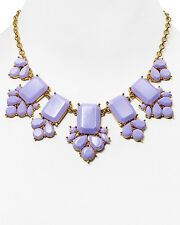 kate spade daylight jewels frontal necklace pale lilac lavender purple gems