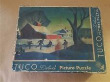 TUCO WORKSHOPS DELUXE PICTURE PUZZLE * THE SKATING POND * AMERICAN NOSTALGIA