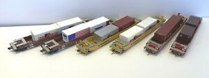 HO Athearn Southern Pacific+TTX 48' Husky Stack Well Cars used w containers