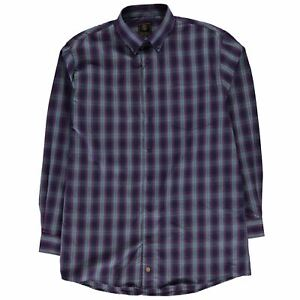 Fusion Mens Plaid Check Shirt Long Sleeve Lined