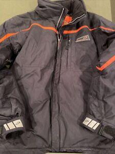 Obermeyer Boys Winter Jacket - Black / Orange Trim - Size 16-Excellent Condition