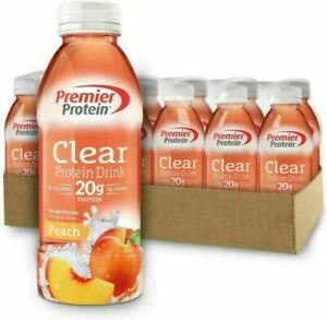Premier Protein Clear Drink Peach, 16.9oz - 12 Count
