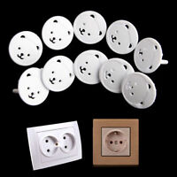 10PCS Safety Child Baby Proof Electric Outlet Socket Plastic Cover New EU Plug