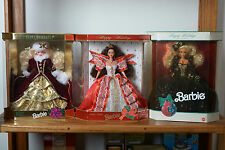 Happy Holidays Special Edition 1991, 1996 and 1997 Barbies, With Box.