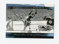 17/18 UPPER DECK CENTENNIAL STANDOUTS #CS-48 BOBBY ORR BRUINS THE GOAL *64063