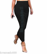 BASIC Tight Fit Slimming PENCIL Casual Club Party LONG Tube Maxi Skirt Dress 2XL