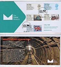 Musée postal lancement FDC 5x Singles officiel 400 LTD type 6 passé juillet 17 post Go