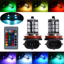 H11 H8 H9 RGB 27SMD LED Fog Light Bulbs Driving Lamp DRL Yellow Ice Blue Green