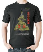Flyingraphics aviation themed T Shirt 'Saab JA37 Viggen'