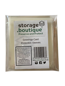 storage.boutique Biodegradable Greetings Card Protection Sleeves, Peel and Seal