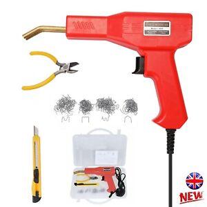 50W Hot Stapler Machine Car Bumper Plastic Welding Gun Wire Repair Tool Kit UK
