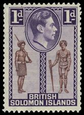 "SOLOMON ISLANDS 68 (SG61) - KGVI ""Policeman and Tribal Chief"" (pf94963)"