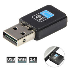 300Mbps USB Wireless WiFi Lan Network Receiver Card Adapter For Desktop USA PC