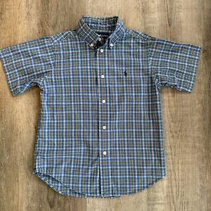 Boys Polo Ralph Lauren Short Sleeve Button Down Size 5