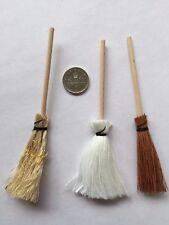 1:12 Scale BROOM SET Dolls House/Kitchen/Garden/Shop/Witch BROOM/BESOM/MOP