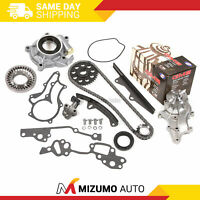 Timing Chain Kit w/ 2 Metal Guides Water Pump Oil Pump Fit 85-95 Toyota 22R 22RE