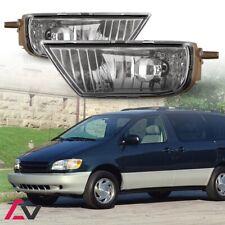 98-03 For Toyota Sienna Clear Lens Pair OE Fog Light Lamp+Wiring+Switch Kit DOT
