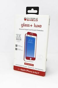 ZAGG Invisible Shield Glass+ Luxe Screen Protector for iPhone 6/6s/7/8 - Red