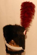 French Napoleonic Bearskin Shako hat for infantry of guard,troop Shako