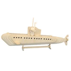 Submarine Woodcraft Quay Construction Wooden 3D Model Kit P042 Military