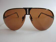 Orville Maison De Frame Rare Vintage Black/Silver Aviator Sunglasses