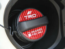 TRD TOYOTA VITZ KSP NCP SCP90 FUEL CAP STICKER DECAL RED CARBON GARNISH