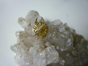 Gold Brosche Vogel aus 585 Weiß / Gelbgold mit Diamant 14kt 585 Anstecknadel