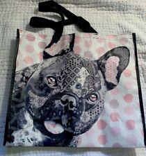 New ~ Reusable Shopping Tote Bag ~ BOSTON TERRIER ~ Pink / Gray / Black TJ Maxx