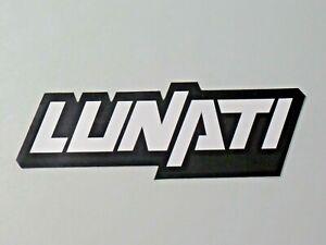 Vintage Lunati Sticker Racing NOS Cams Cranks Pistons Decal 7952