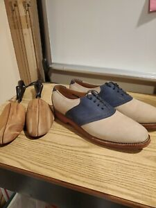 ALLEN EDMONDS Tulane Spectator Saddle Shoes. Size 12 With shoe keepers
