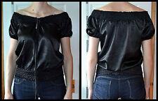 OKAY size XS 34 Ladies Black bandeau top blouse 95% Polyester 5% Elastane Bangla